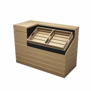 Mostrador con cajas BOX